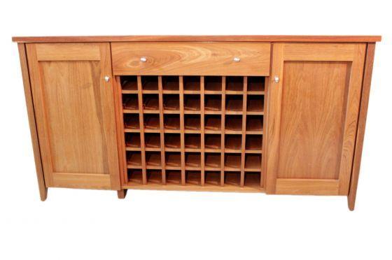 Bruno Buffet W Wine Rack, Wine Rack Furniture Australia